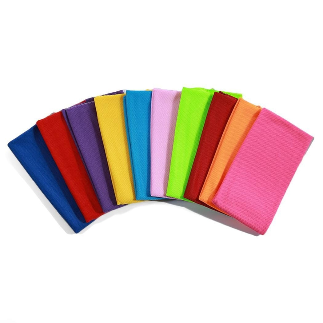 9 Colors Cooling Towel Soft Absorbent Quick Dry Sports Workout Fitness Gym Towel