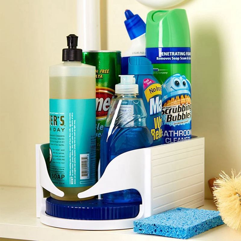 Multi-functional Double Roller Rotating Storage Box(Help keep everything tidy!)