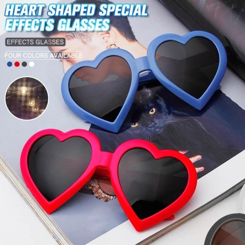 Magic Heart Effect Diffraction Glasses