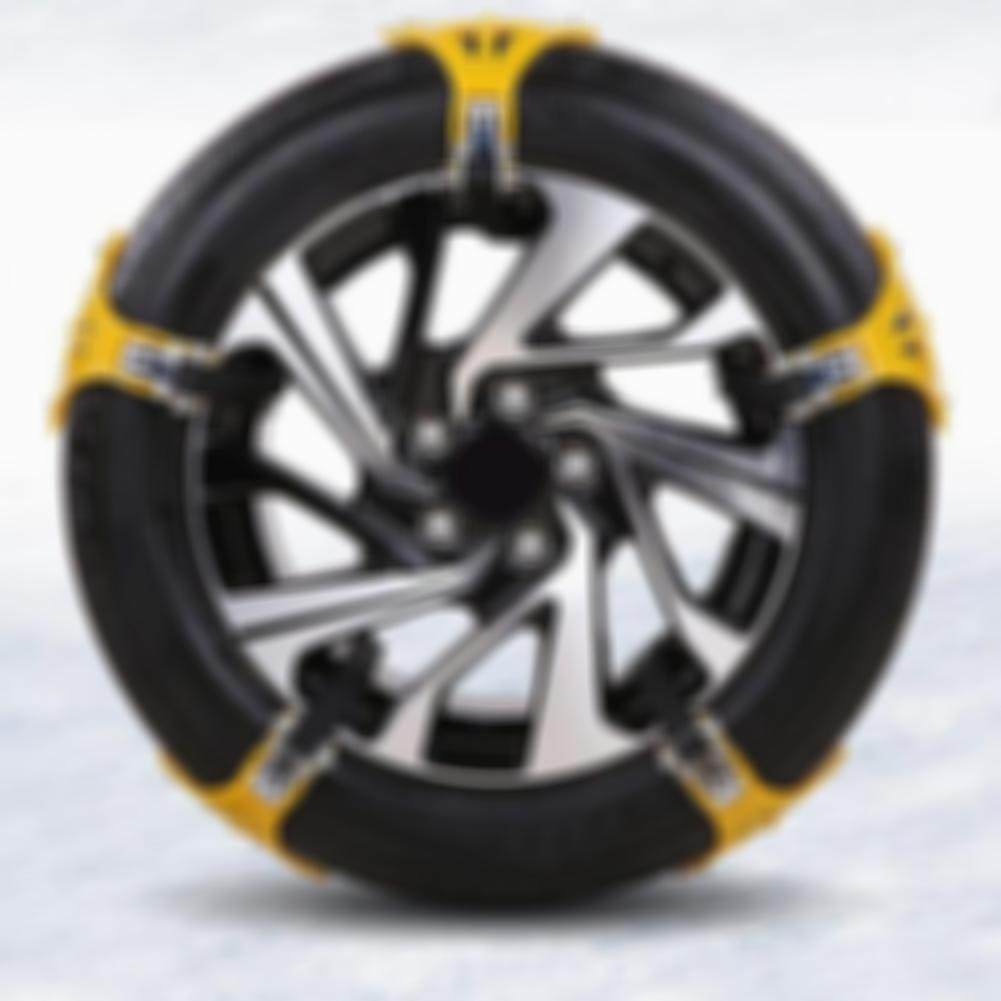 Car Tire Anti-Skid Snow Chains All Season and Terrain Anti-Skid Car, SUV, and Pick Up Tire Chains