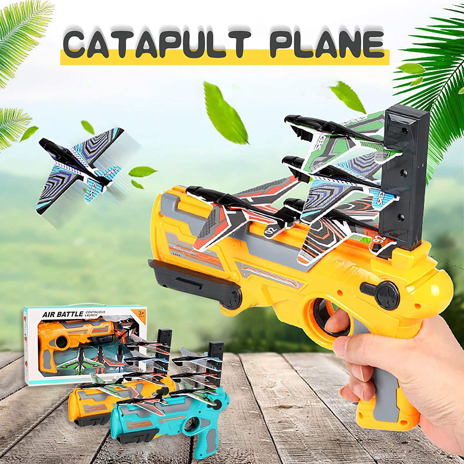 Bubble Catapult Plane Toy Airplane