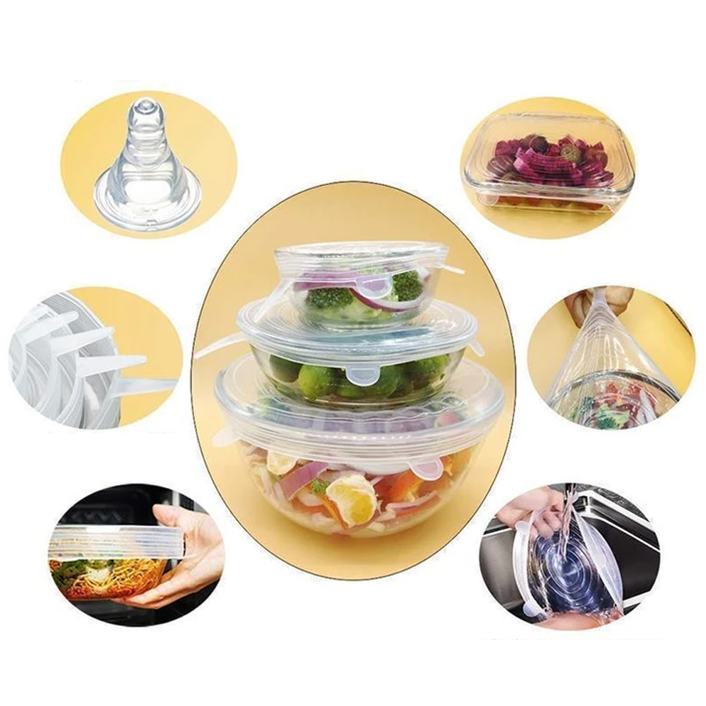 Higomore™ Stretchable Food Silicone Lid, 6 pieces
