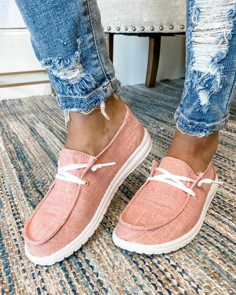 Buy 3 Free shipping💜Women's Canvas Lace-Up Loafers