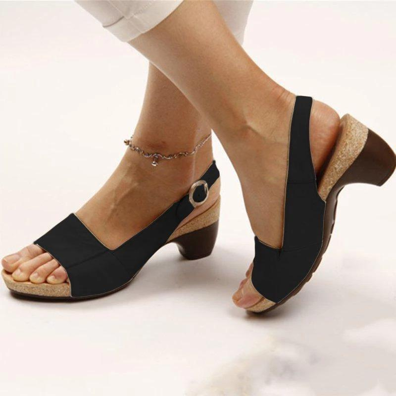 COMFY ARCH SUPPORT HEEL SANDALS