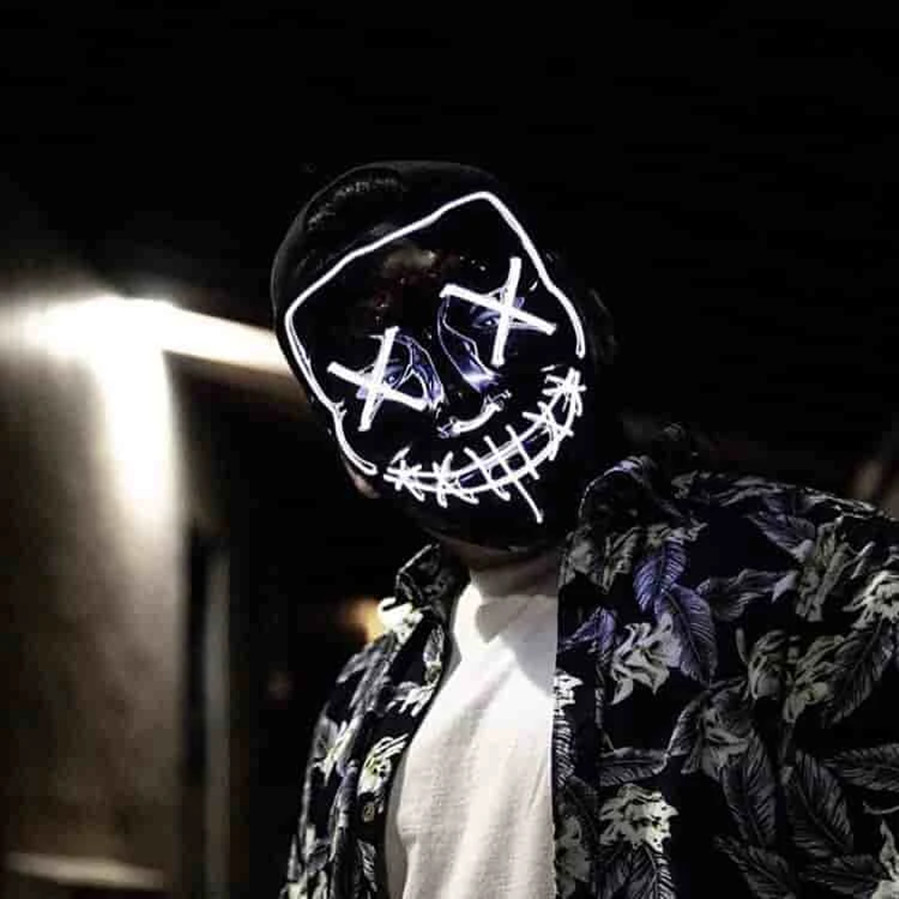 LED Purge Mask For Rave, Festivals, Party, Halloween