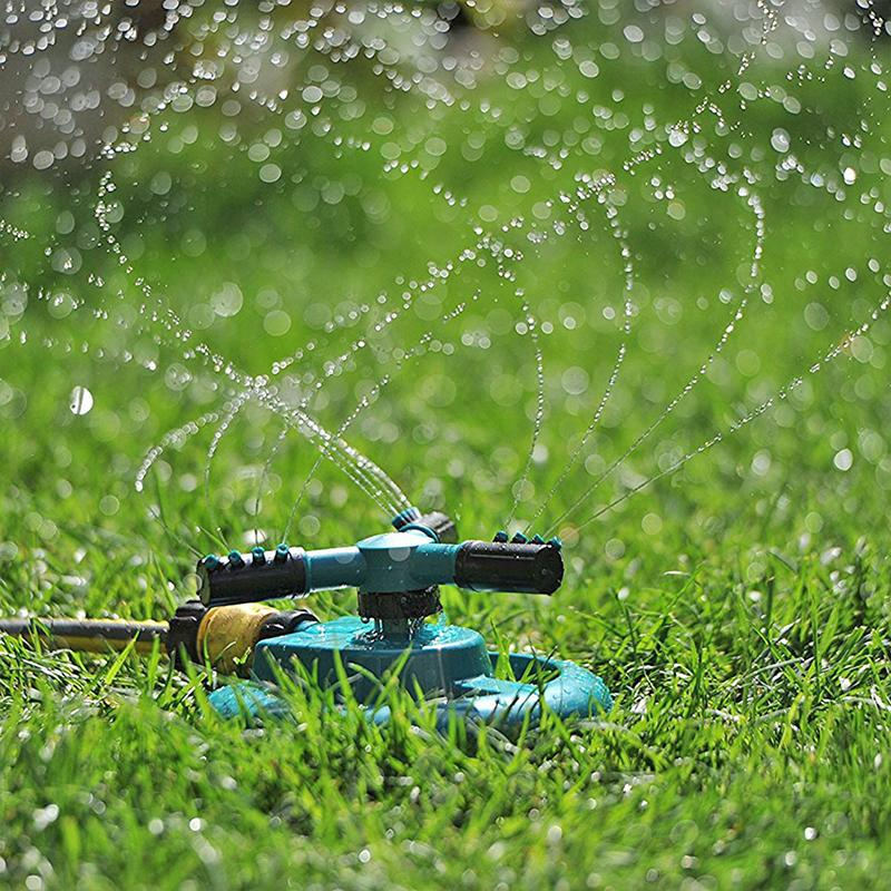 Rotating Automatic Sprinkler Garden Spray 360 Degree Planting Watering Irrigation for Household