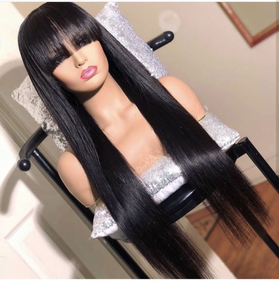 2020 New Straight Wigs Black Long Hair Straight Back Braids 2018 Afro American Wigs Short