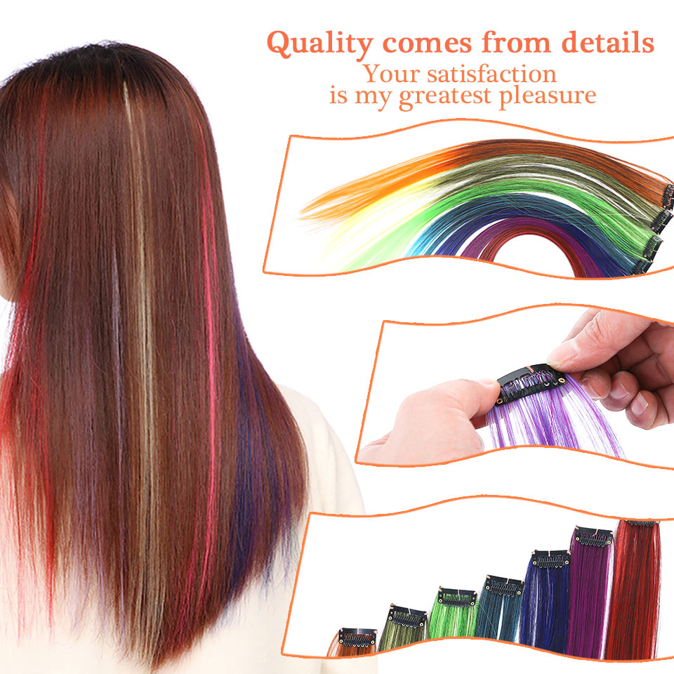 Multi-Colors Clip on in Hair Extensions