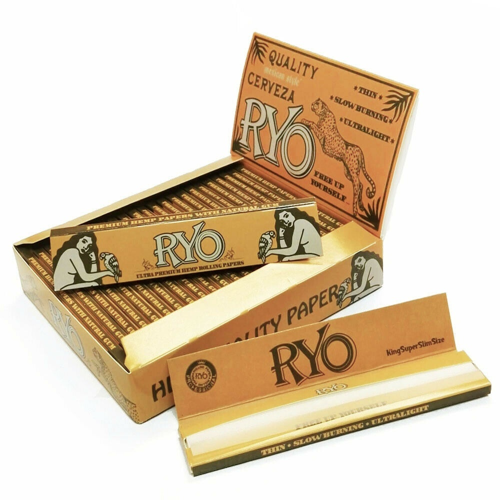 25 x 32 Sheets NEW Classic KING SLIM SIZE Rolling Papers 108*36mm 800 Levas Totally Smoking RYO