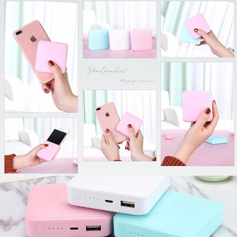 SKRTEN 6000mAh Mini Soft Leather Shell Cube Portable Power Bank Charger