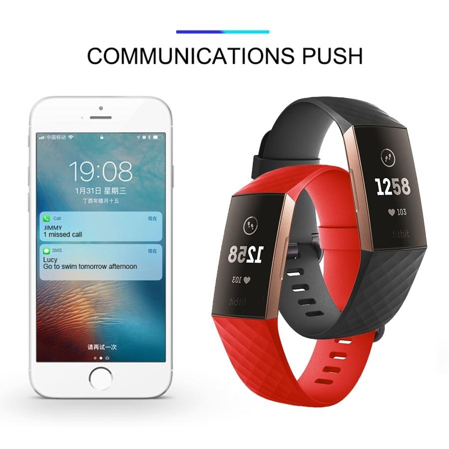 Fashion Pure Color Silicone Replacement Smart Watch Accessories Bracelet Strap for Fitbit Charge 3 Band Wristband Belt Fit Bit Band