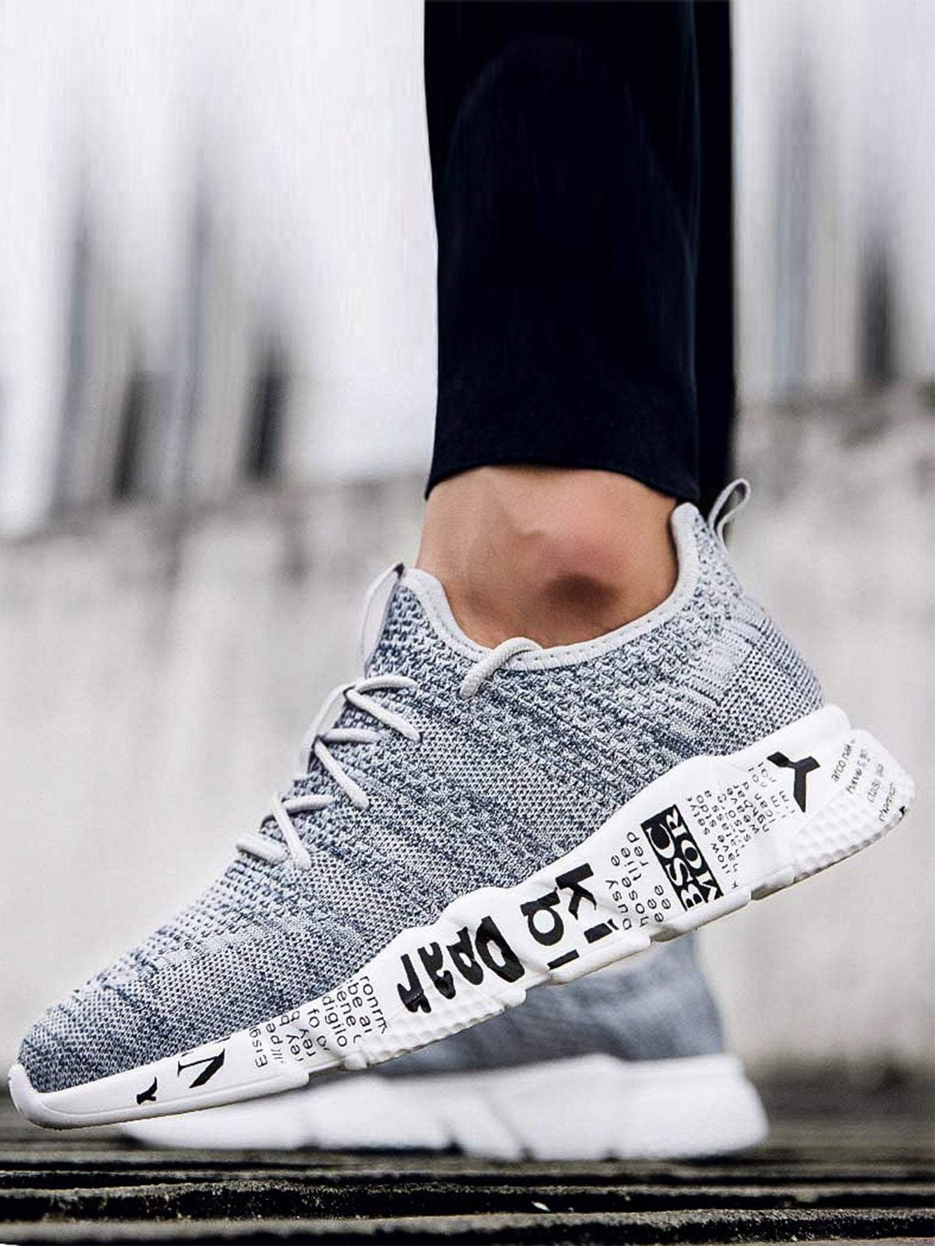 Men Lace-up Mesh Trainers