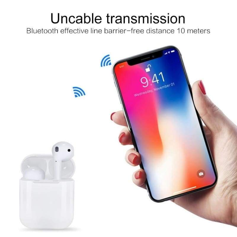 Mini i12 TWS Bluetooth 5.0 Earphone Smart Touch Control Earbuds Wireless Bluetooth Earbuds Headphones With Charging Box for IPhone for Samsung Android Meizu Oppo Ear Pods Xiaomi