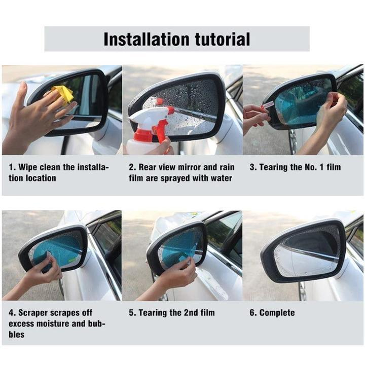 Super Black Friday ✪ Cyber Monday Sale! ✪- Car Rearview Mirror Rainproof Film