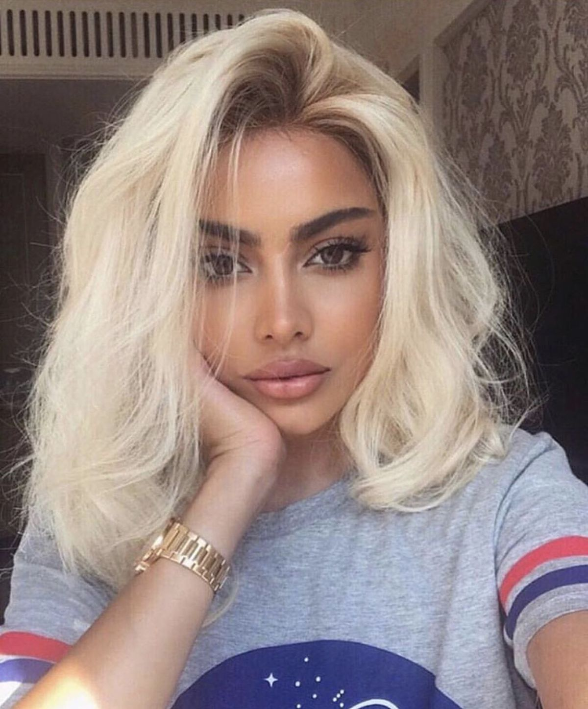 Lace Front Wigs Medium Blonde Hair Ombre 613 Black And Blonde Balayage