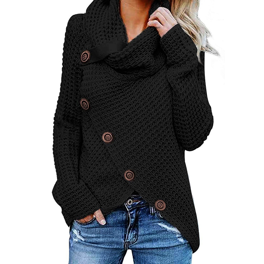 Winter New Women Long Sleeve Knitted Sweater Jumper Cardigans Knitwear Autumn Tops