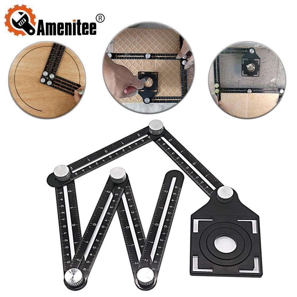 (Early Father's Day Promotions-50% OFF)Six-sided Aluminum Alloy Angle Measuring Tool