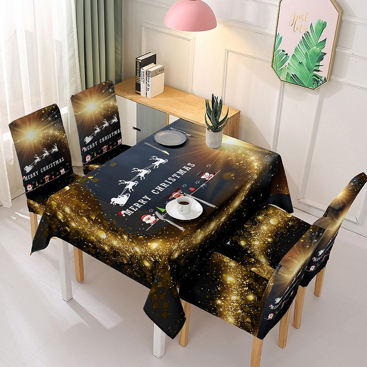 (50% OFF)Christmas Element Pattern Tablecloth