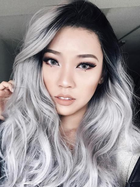 2020 New Gray Hair Wigs For African American Women Wig Net Natural Looking Lace Front Wigs Deep Wave Wig Blond Grey Hair Reverse Gray Hair Permanently