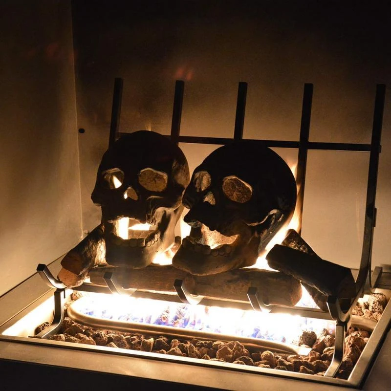 🔥Buy 4 Free 3 - $6.99 Each🔥Terrifying Human Skull Fire Pit 🎃Halloween Hot sale🎃