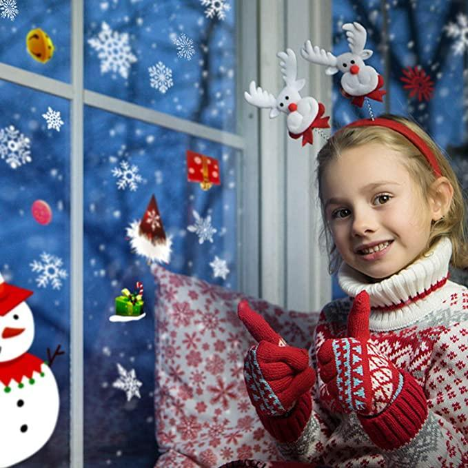 300 Patterns 12 Glass Christmas Snowflake Stickers Glass Stickers