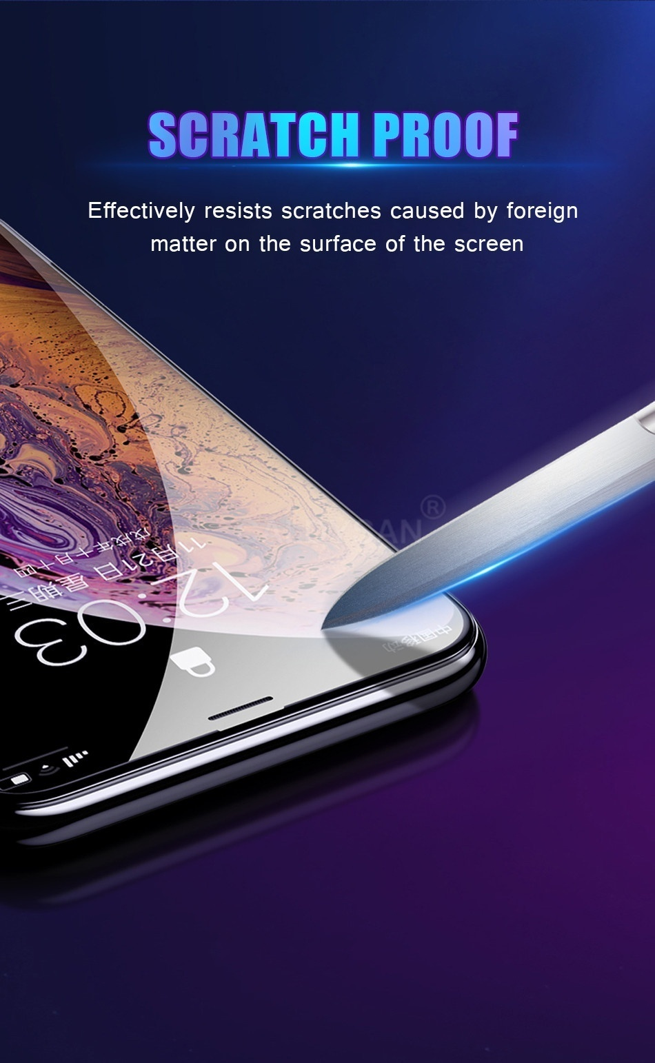 3Pack 20D Curved Edge Full Cover Protective Glass On The For iPhone 5 SE 5s 6 6S 7 8 Plus Tempered Screen Protector For X XR XS Max Glass Film