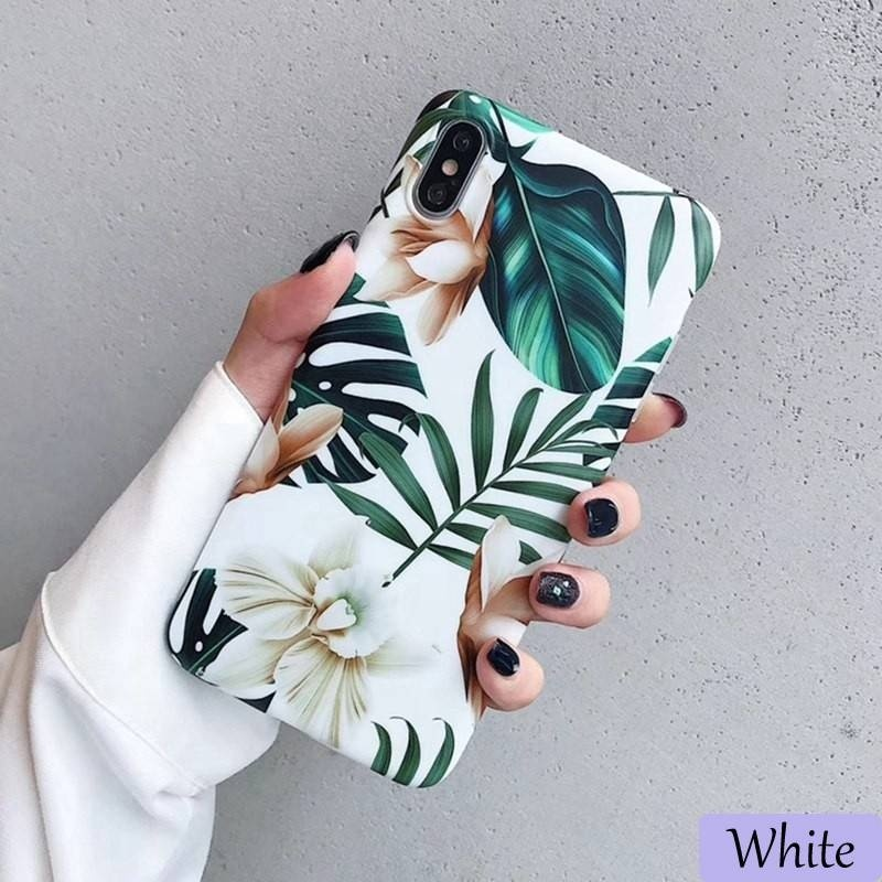 Floral Flower Banana Leaf Soft Phone Case Cover For Samsung Galaxy Note10Pro Note10 A40 A50 A70 S10Plus S10e S10 S9Plus S9 S8Plus S8 For iPhone XsMax Xr Xs X  For Huawei P30 P30Pro P30Lite P20Lite Mate20 Mate20Pro Mate20Lite Etc