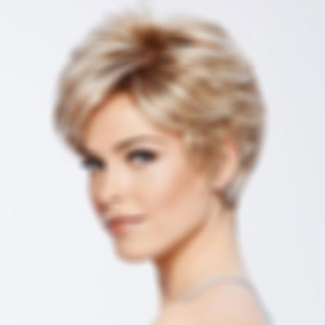 KAMI 030 Short Wavt Wigs with Bangs Boycuts Short Layered Straight Wig for Women