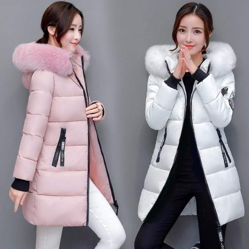 2020# Womens Winter Jackets and Coats Warm Hooded Down Cotton Padded Parkas for Women's Winter Jacket Female Manteau Femme