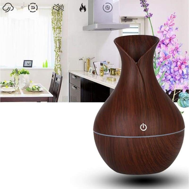 30ml / 130ml best LED USB wood grain ultrasonic air humidifier aromatherapy essential oil diffuser