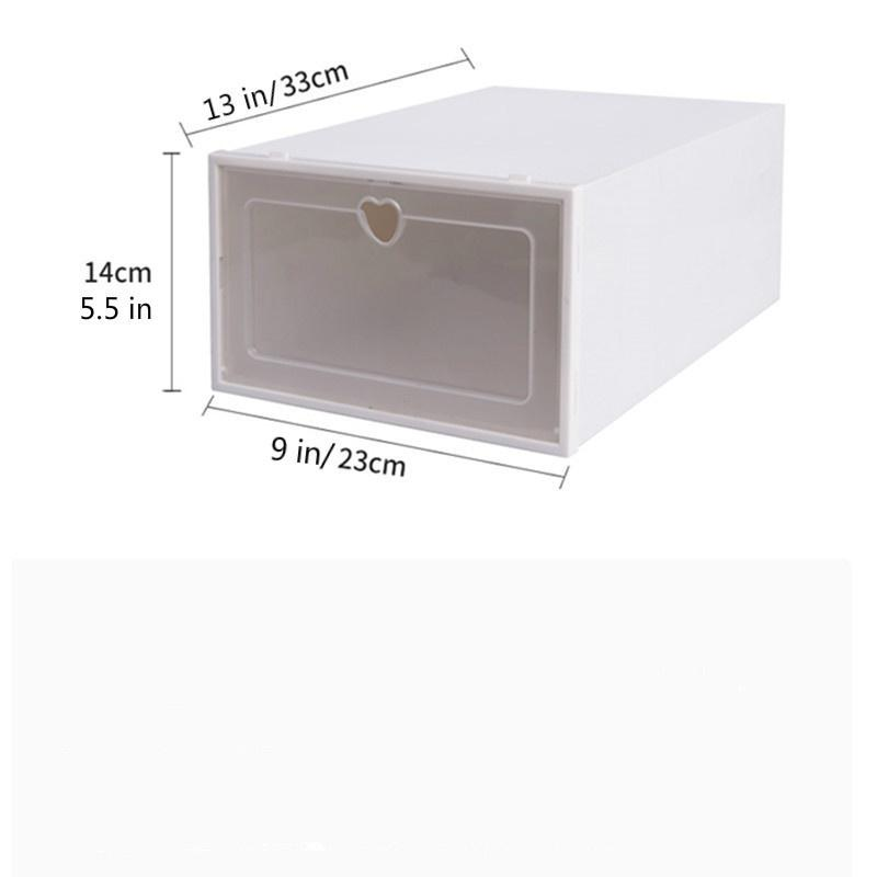 3/6/12 box / set Foldable Clear Plastic Home Shoe Box Organiser Drawer Stackable Storage Box