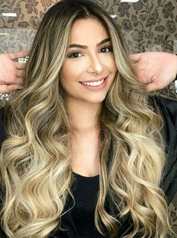 2020 Fashion Ombre Blonde Wigs Beautiful Blonde Hair