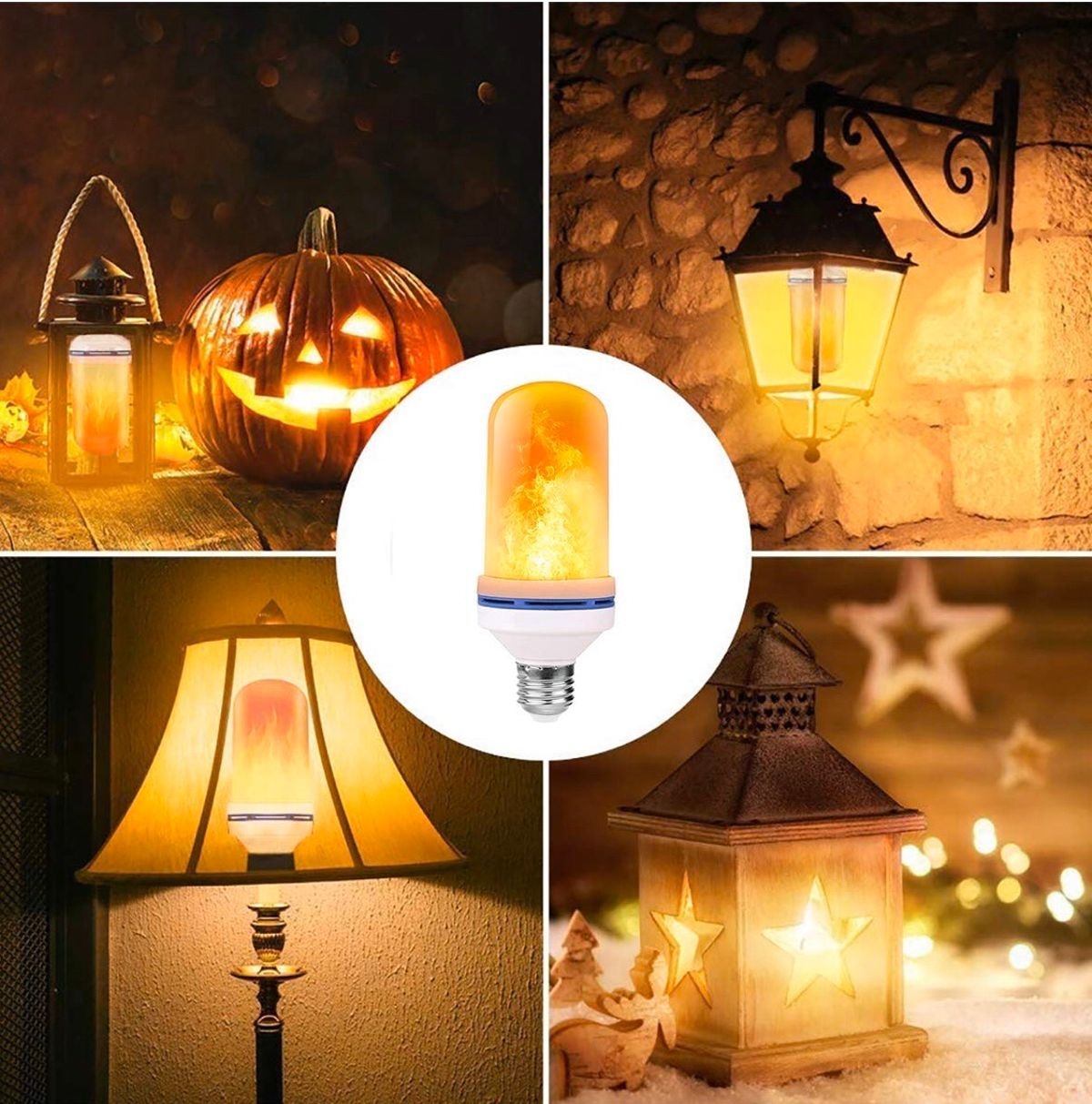 Halloween-LED Flame Effect Light Bulb-With Gravity Sensing Effect