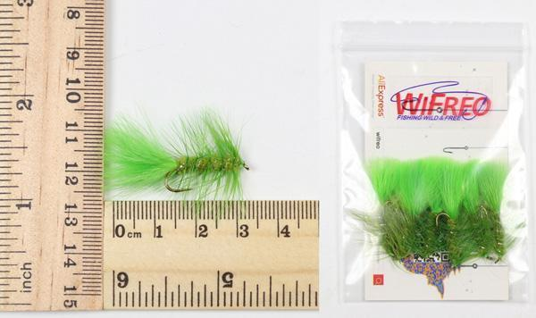 Wifreo 6Pcs Trout Fly Fishing Flies Streamer Fly Muddler Egg Leech Peacock