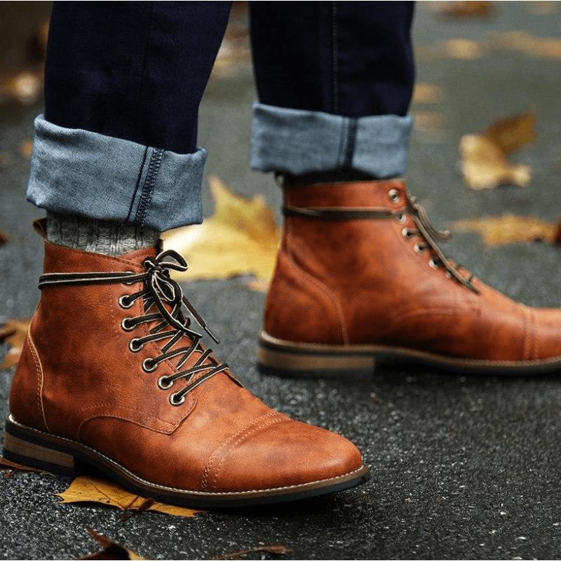 Tredfashions High Quality Men's Leather Boots 2019!