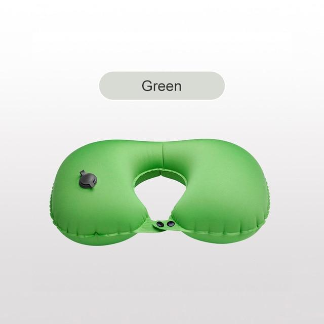 Push-type inflatable u-shaped pillow Function custom air pillow office pillow creative portable neck protector