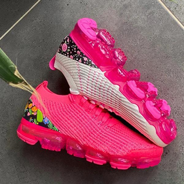 Zoeyootd Air Flower Woven Fashion Sneakers