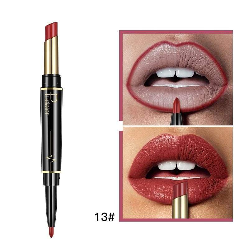 16 Color New Double Ended Sexy Lasting Matte Waterproof Lipliner and Lipstick Pencils
