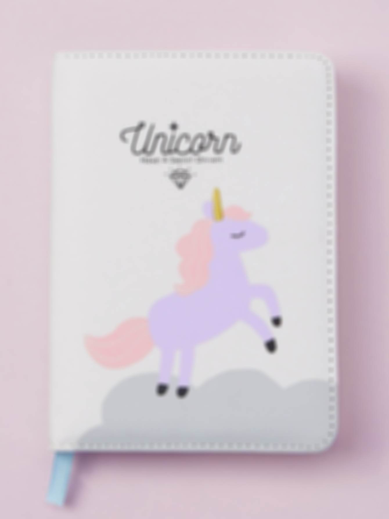 Random Unicorn Print Notebook 1pack