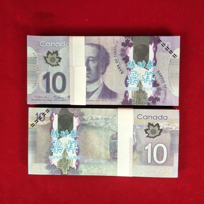 Canada 100/50/20/10/5 Canadian Dollar Bill Paper Money for Game-specific Bank Financial Bills Magic Coin Movie Props Copy
