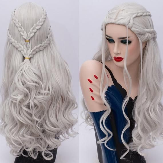2020 New Gray Hair Wigs For African American Women Natural Gray Hair Short Hair For Grey Hair Black Wig With Bangs Eayon Wigs Ghost Bond Platinum