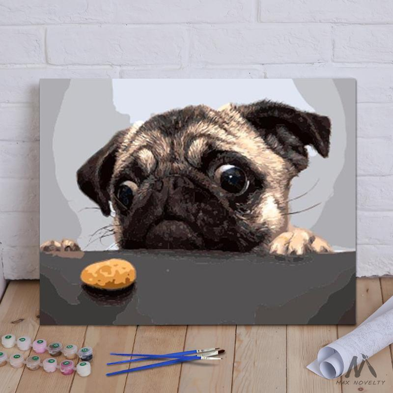 DIY Painting By Numbers - Dog And Cake (16