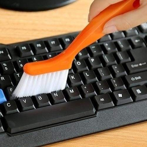 2 In 1 Multipurpose Window Track Cleaning Brush Keyboard Nook Cranny Dust Shovel (Size: One Size)