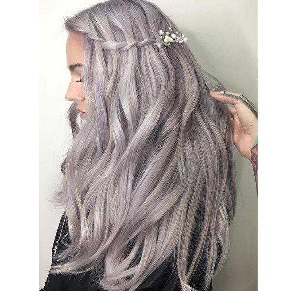2020 New Gray Hair Wigs For African American Women Cotton Candy Wig Hair Turning Blonde Instead Of Gray Grey Hair At 24 Highlights To Cover Grey Synthetic Wigs That Look Real
