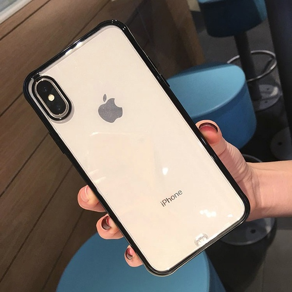 4Colors Fashion Shockproof Bumper Transparent Silicone Phone Case for IPhone X XS XR XS Max 8 7 6 6S Plus Clear Protection Back Cover