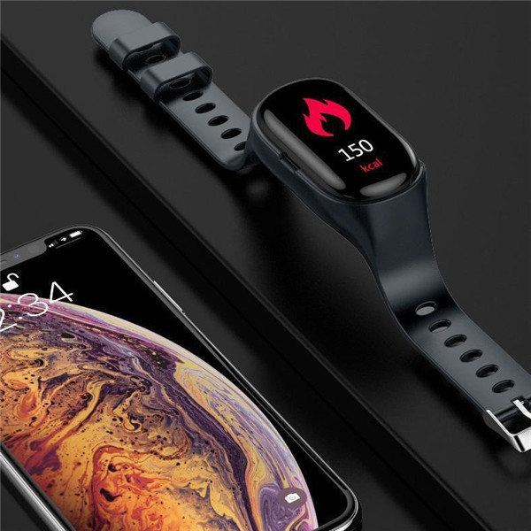 2 In 1 Smart Watch With Bluetooth Earbuds