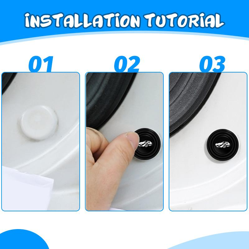 (Clearance Sale - 50% OFF)Car door shock-absorbing and silent gasket with car logo