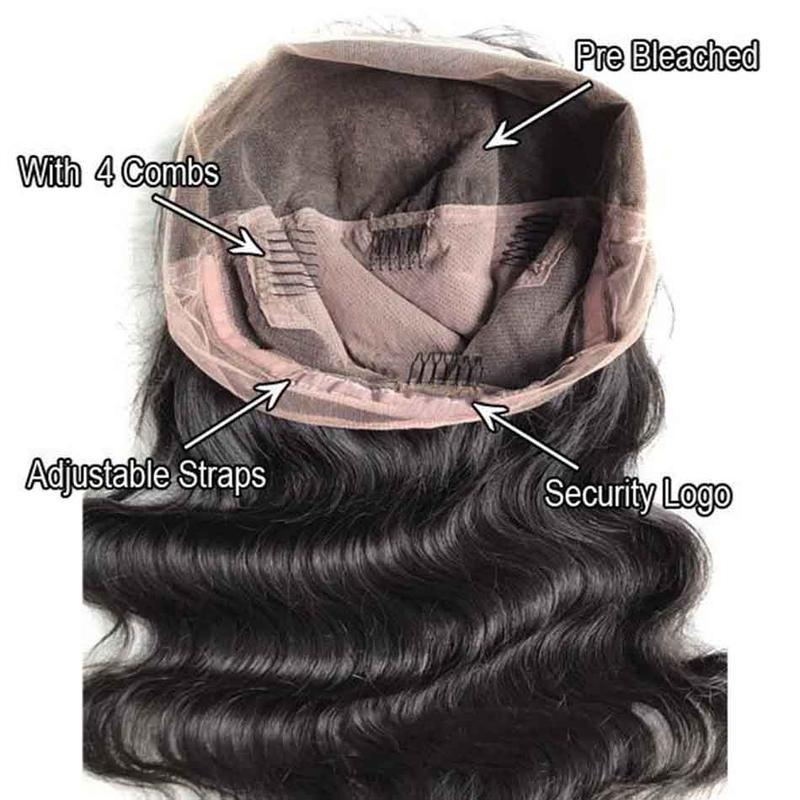 Glueless Nature Body Wave Free Part Front Lace Wig