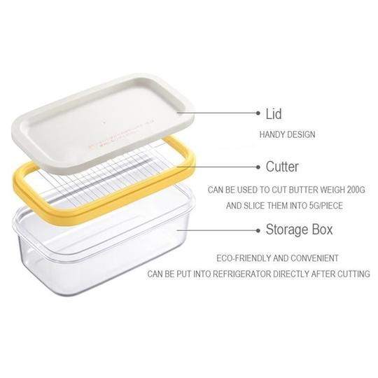Butter Box Cutting Mesh Crisper Kitchen Fresh Fish Meat Rectangular Storage