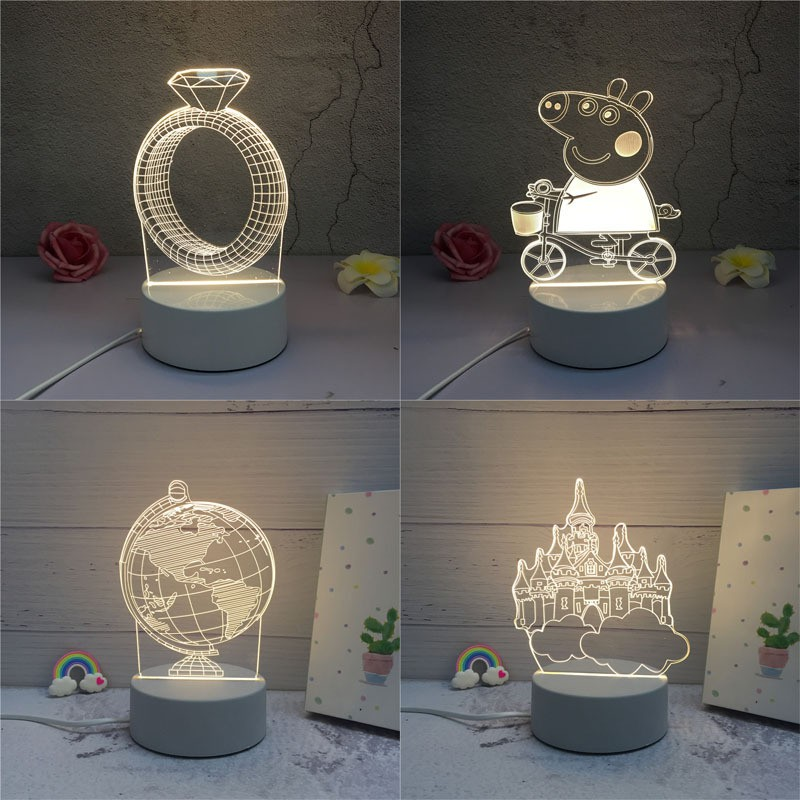 3D creative USB desk lamp